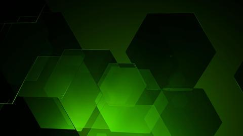 green glossy hexagonal Animation