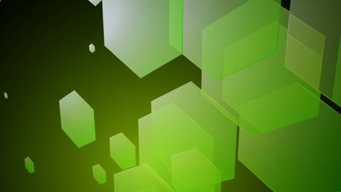 green transparent hexagons Animation