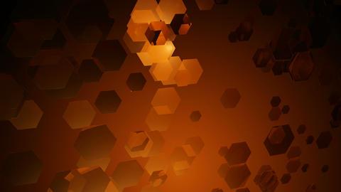 wavy orange hexagons Animation