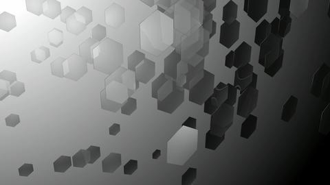 grey hexa space Animation