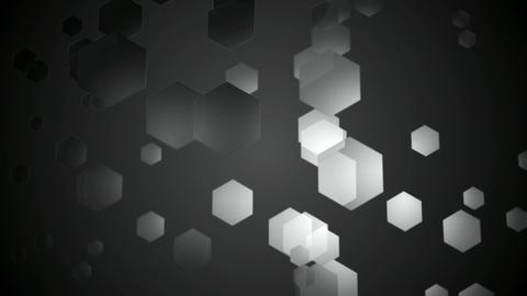 greyscale hexagonal space Animation