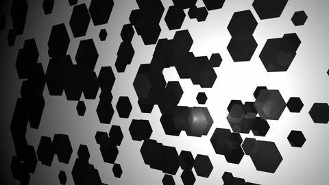 black flying hexagons Animation