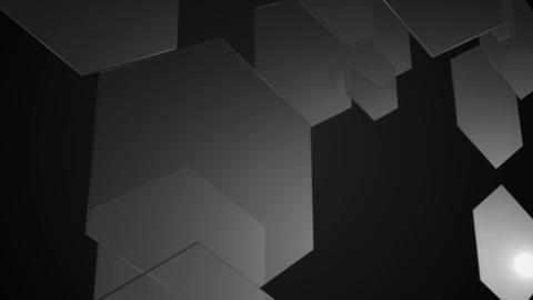 monochrome color hexagons Animation