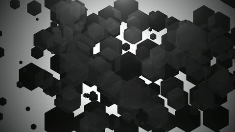 black spotlights hexagonal Animation
