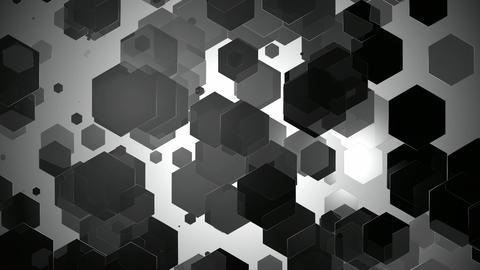 greyscale hexagonal lights Animation