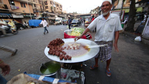 Indian Street Food - Mumbai, India stock footage
