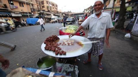 Indian Street Food - Mumbai, India stock footage