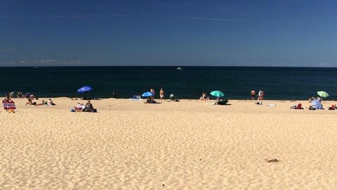 Soft sandy beach Provincetown Cape Cod Footage