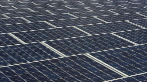Pan right to left of solar grid on rooftop Footage