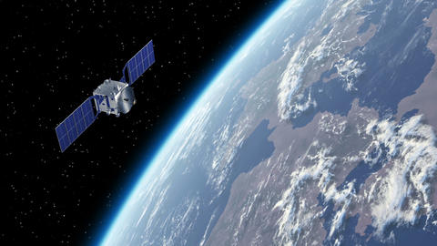 Satellite Orbiting Earth Animation