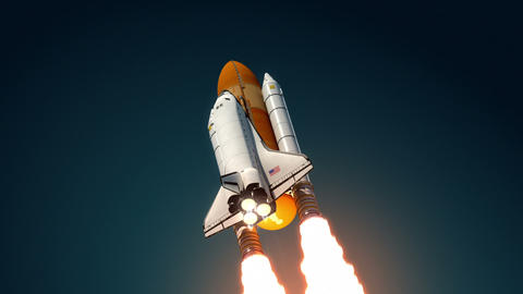 Space Shuttle Take Off Animation