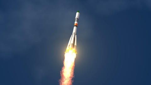 Cargo Carrier Rocket Launch stock footage