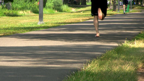 A walking path along Charles river in Boston provides perfect place to enjoy nat Footage