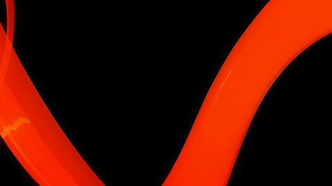 Orange Ribbon Path stock footage