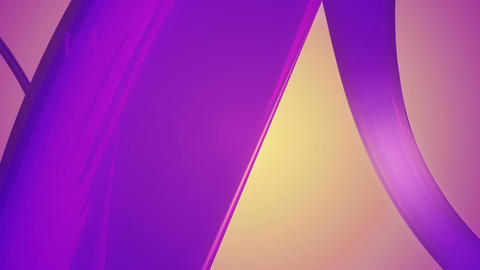 flowing purple ribbon Animation