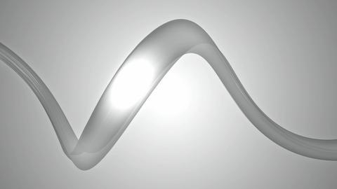 greyscale moving ribbon Animation