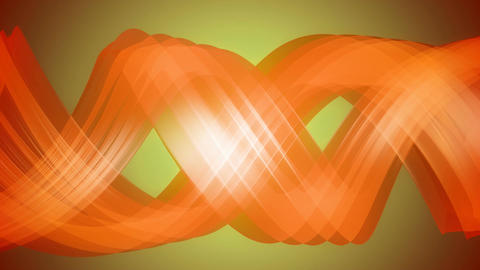 orange twisted helix Animation