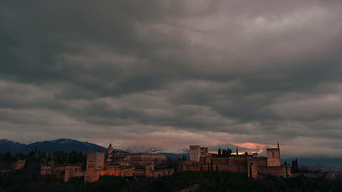 Timelapse In Alhambra stock footage