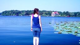 Eu privind spre lac 1 Footage
