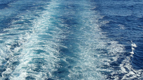 Sea Trail From the Stern of a Cruise Liner 4k Footage