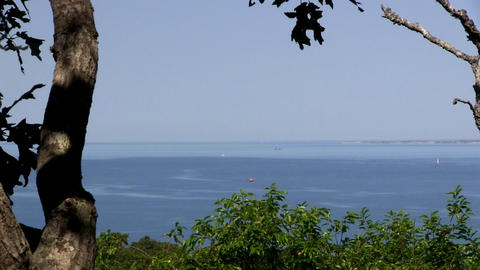 Top of observation hill, part of Menemsha Hills Reservation on Martha's Vineyard Live Action