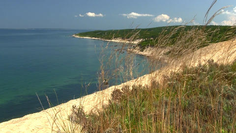 Top of great sandbank lookout, part of Menemsha Hills Reservation on Martha's Vi Footage