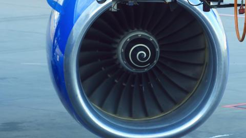 Airplane turbine Footage