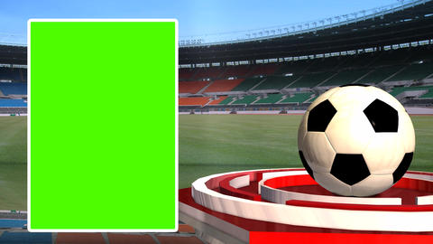Football News Update Broadcast Television Green Screen stock footage