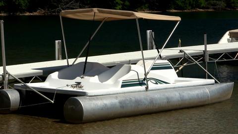 Docked paddleboat Footage