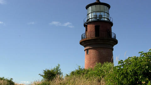 Gay Head Aquinnah lighthouse on Martha's Vineyard Footage