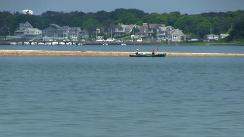 Kayaking along sandbar Footage