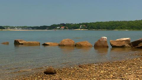 Beach boulders Footage