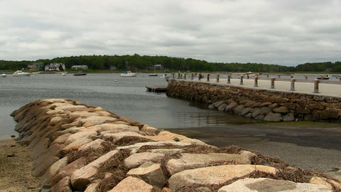 Boat ramp and breakwater Cape Cod Footage