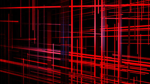 red grid space Animation