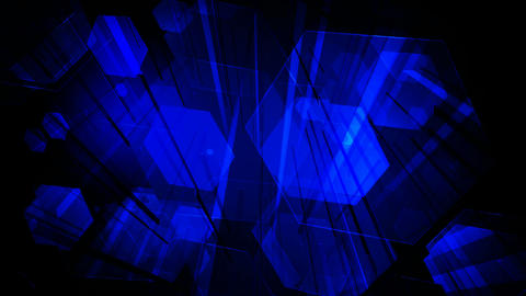 digital blue space Animation