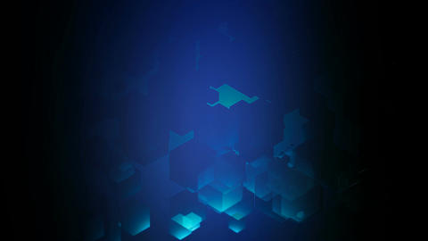 deep blue lights Animation