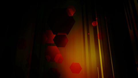 volumetric hexa lights Animation