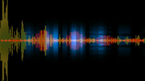 digital audio waves Animation