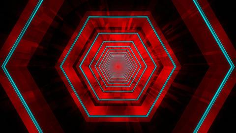 hexagonal tunnel infinite Animation