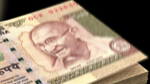 Counting Indian Rupee Animation