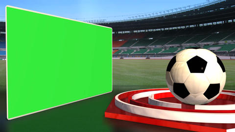 Football News Update Broadcast Television Animation Green Screen Footage