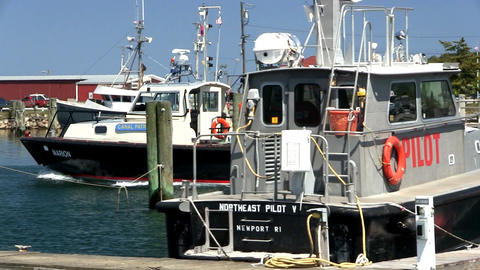 Canal patrol boat Cape Cod Footage
