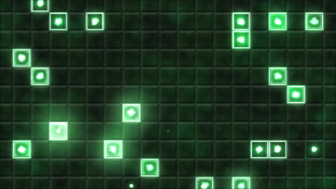 Tiled Background and Light Animation - Loop Green Animation