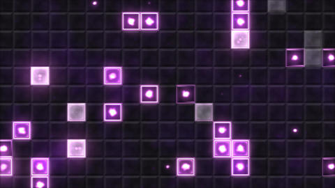 Tiled Background and Light Animation - Loop Purple Animation