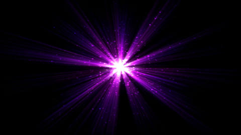 Bright Star And Light Animation - Loop Purple stock footage