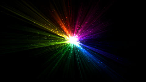 Bright Star and Light Animation - Loop Rainbow Animation
