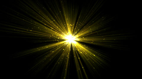 Bright Star and Light Animation - Loop Yellow Animation