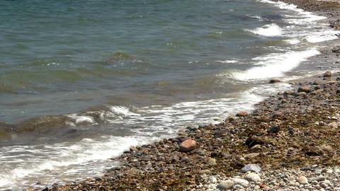 Rocky coast line waves Footage