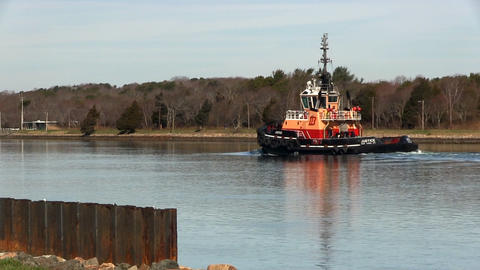 Cape cod canal tug boat; 2 Footage