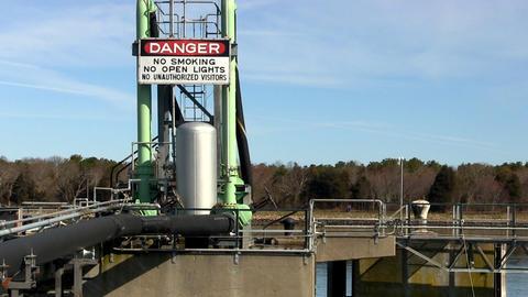 Fuel tanker dock signage cape cod canal; Danger Footage